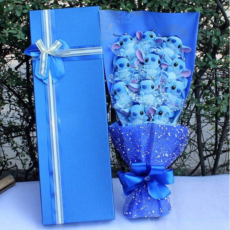 Enfants anime de présentation d'anniversaire, point de bouquet en peluche En Peluche Poupée Bouquet de Bande Dessinée Bouquet Belle Coffret cadeau Saint Valentin Cadeau