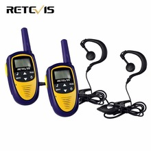 2pcs Mini Walkie Talkie Kids Radio Retevis RT31 0.5W UHF US Frequency Portable Radio Christmas Gift +Earpiece A9112