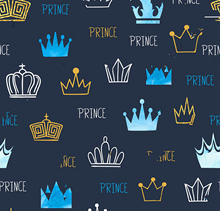 little prince Watercolor Glittering Crowns Blue Baby shower background  Computer print party photo backdrop 5f41ecf9754e