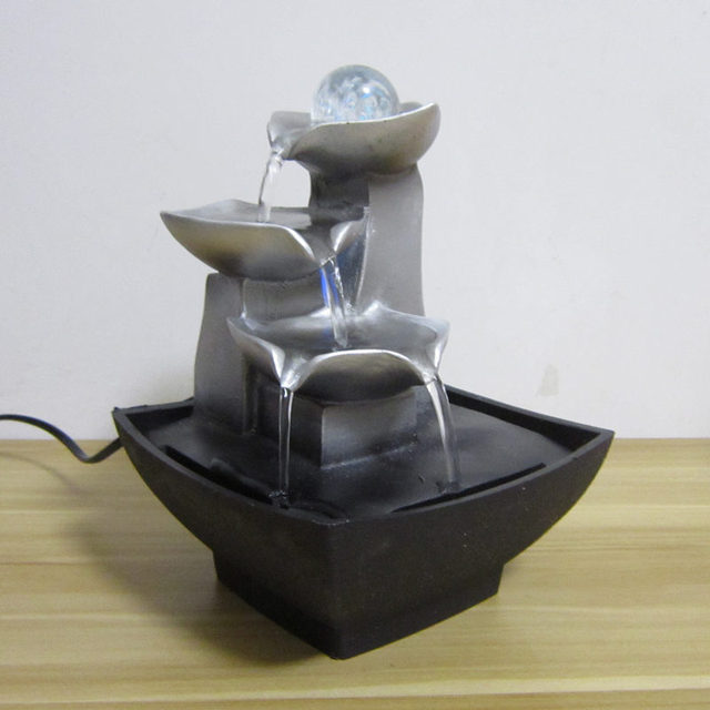 Desktop Water Fountain with Ball and LED Light