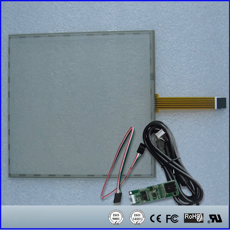355x288mm 5Wire Resistive Touch Screen Panel USB Kit for 17.3'' inch Monitor 17inch resistive touch screen panel 382 2x239 5mm 5wire usb driver board kit for 17 monitor
