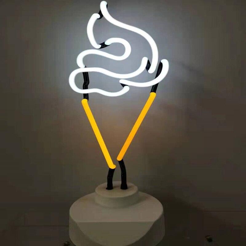 Néon Tube néon lumière 110 V-240 V signe lumières chambre Bar Club décoration créative néon lampe famille cadeau affichage néon jaune