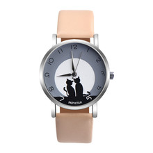 Women Fashion Watch Yin-Yang Cute Cat Faux Leather Analog Quartz Casual Watch Sport Bracelet Brands Gifts  relogio feminino #40