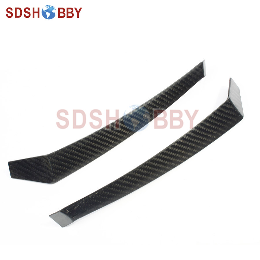 One Pair F3A Carbon Fiber Landing Gear with 3K Treatment for 160 Grade Nitro Airplanes 1sheet matte surface 3k 100% carbon fiber plate sheet 2mm thickness