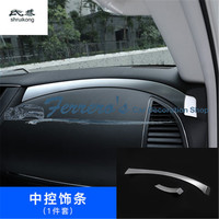 2pcs/lot Car stickers ABS Chrome Central control dashboard decoration cover For Nissan Armada Patrol Royale Nismo Y62 2016 2018