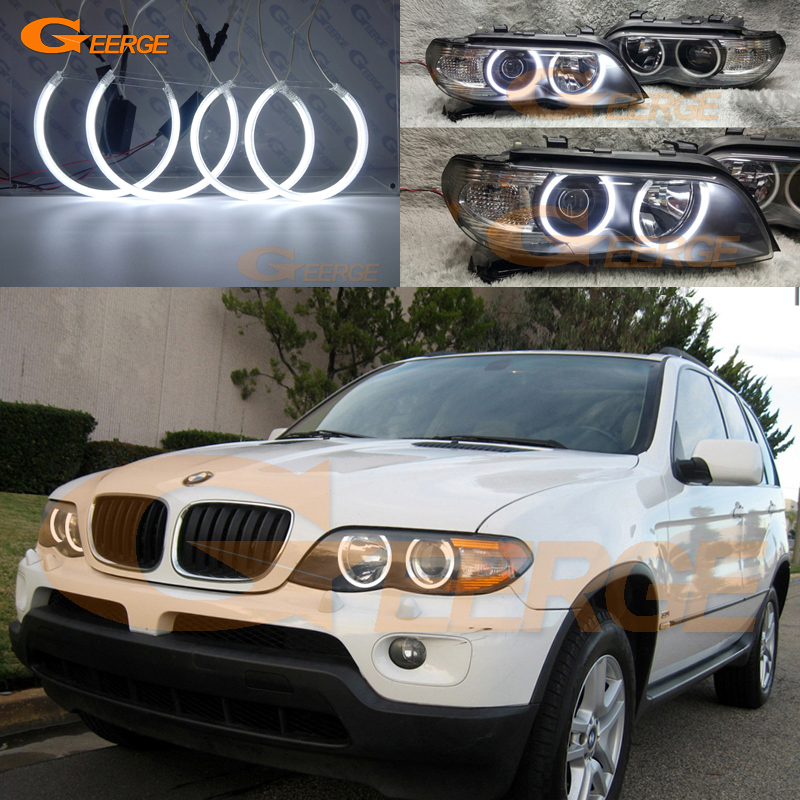 For BMW X5 E53 2004 2005 2006 headlight Excellent Angel Eyes Ultra bright illumination CCFL angel