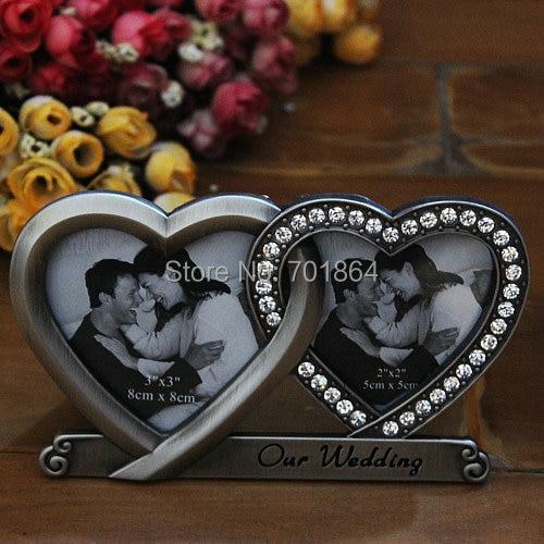 Free Shiping Home Decor Wedding Gifts Heart Shaped Metal Photo ...