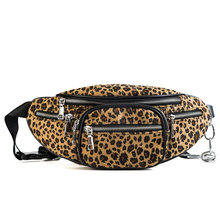 2019 New Women Fashion Leopard Fanny Pack Bum Travel Sports Waist Bag Chain Chest Bags