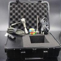 Waterdichte Case Elektrische Nail Dab Nail Heater Coil 10 MM Quartz Titanium Nail Verbranding WAX Olie Voor Waterleidingen