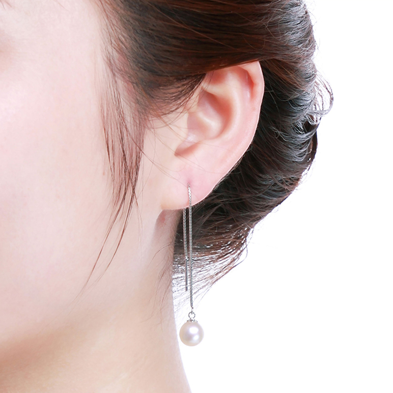 Daimi Long Earrings Fashion 925 Silver Jewelry Real Pearls Charms 2017 New Ear Thread Name Brand In From Accessories On Aliexpress