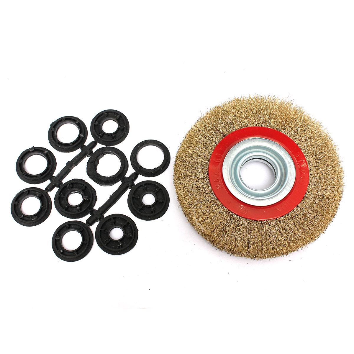 Miraculous Us 12 44 52 Off Top Selling 1Pc 6 Inch 150Mm Steel Flat Wire Wheel Brush With 10Pcs Adaptor Rings For Bench Grinder Polish Best Quality In Brush Evergreenethics Interior Chair Design Evergreenethicsorg