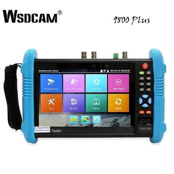 цена на 9800 Plus 7 Inch IP Camera Tester CCTV Tester CVBS Analog Camera Tester with POE/WIFI/4K H.265/HDMI Output/RJ45 TDR/ONVIF