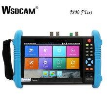 9800 Plus testeur de caméra IP 7 pouces testeur de vidéosurveillance testeur de caméra analogique CVBS avec sortie POE/WIFI/4 K H.265/HDMI/RJ45 TDR/ONVIF