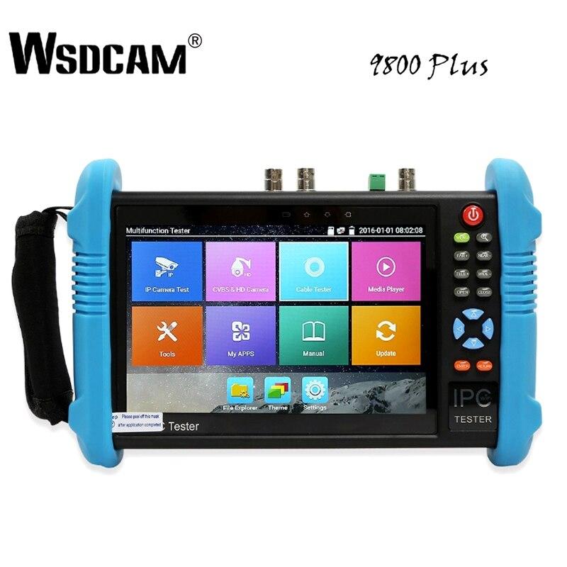 9800 Plus 7 pouce IP Caméra Testeur CCTV Testeur CVBS Analogique Caméra Testeur avec POE/WIFI/4 k h.265/HDMI Sortie/RJ45 TDR/ONVIF