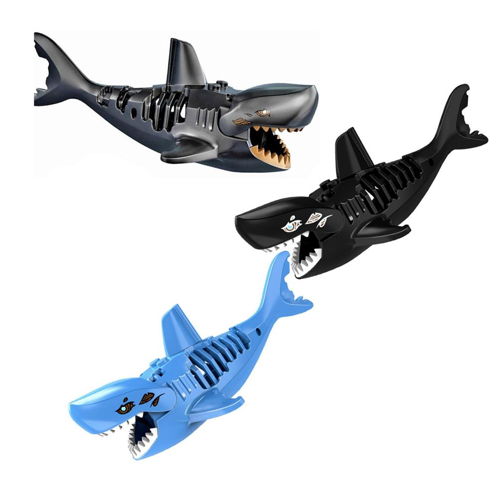 3pcs Ghost Zombie Shark Action Bricks Single Sale Pirates of the Caribbean Building Bricks Toys For Children E21