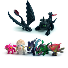 Free Shipping 7pcs/lot Comic Animation Dragon Master Edition Doll Ornaments Toothless Night Furys Low Action Figure KH0026