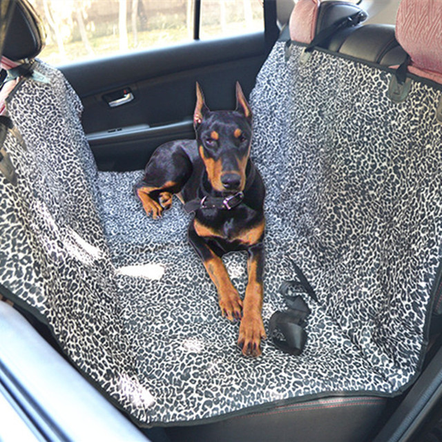 Dog Car Protector >> Us 28 31 High Quality Soft Quilted Leopard Oxford Non Slip Dog Car Back Seat Cover Pet Accessories Protector Mat Blanket Rear Seat Cover In Dog