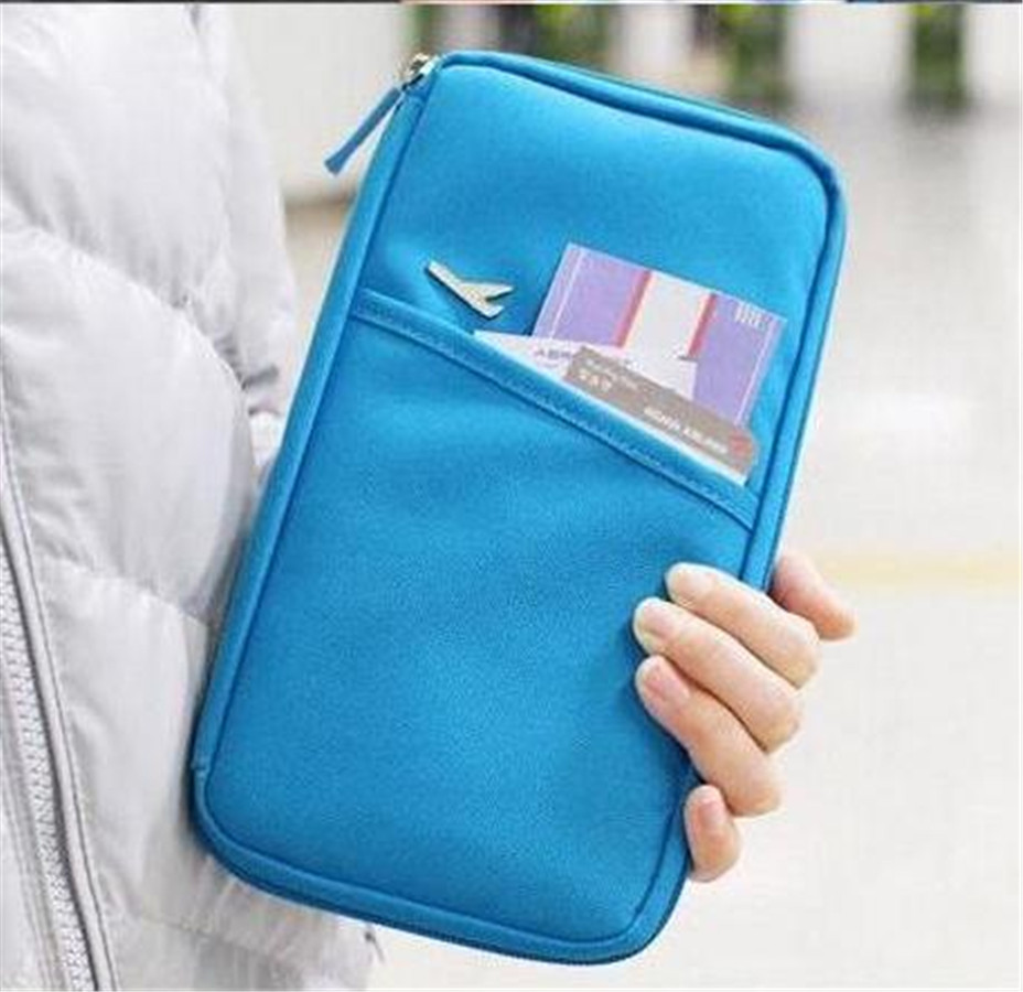 Free shipping passport bags holder documents bag ticket for Document pouch for shipping