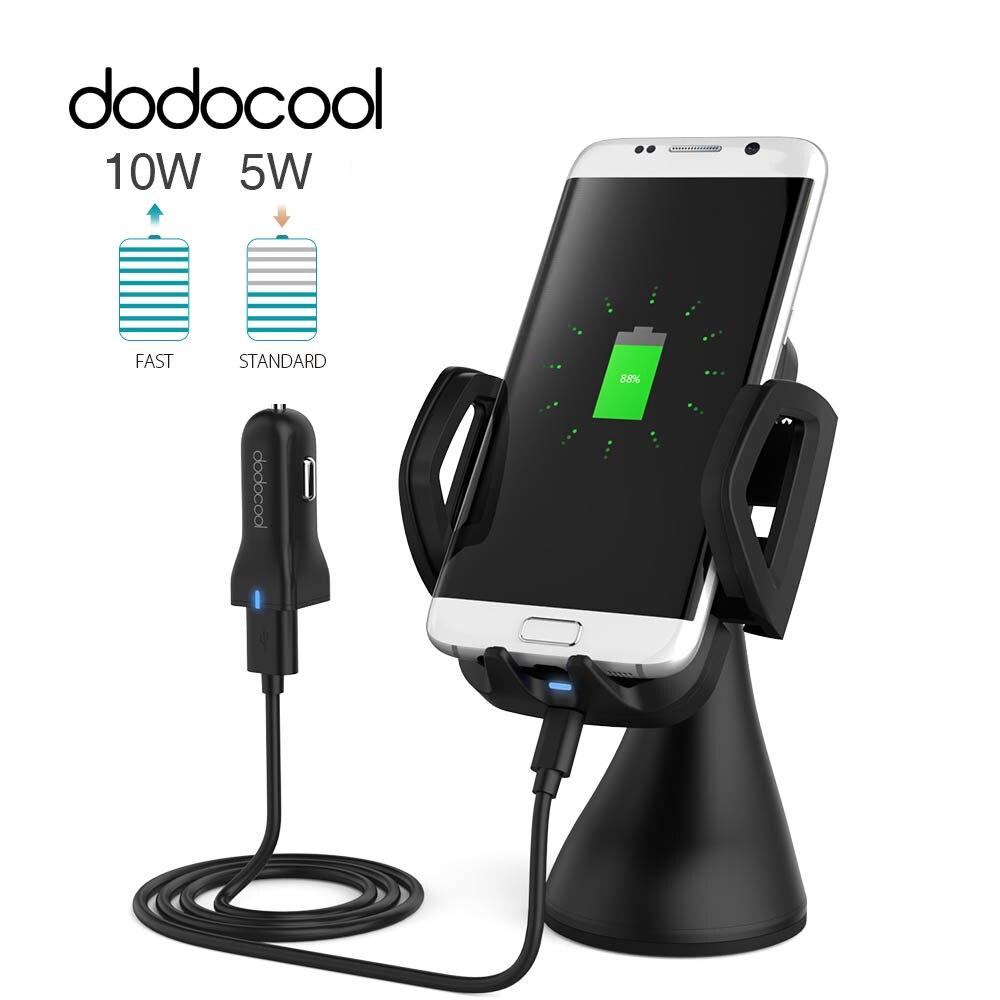 bilder für Dodocool 3 spule Schnelle Drahtlose Auto Ladegerät Entlüftungs Saughalterung qi Wireless-ladegerät Handy-standplatz-auto-halter für Samsung Galaxy S7