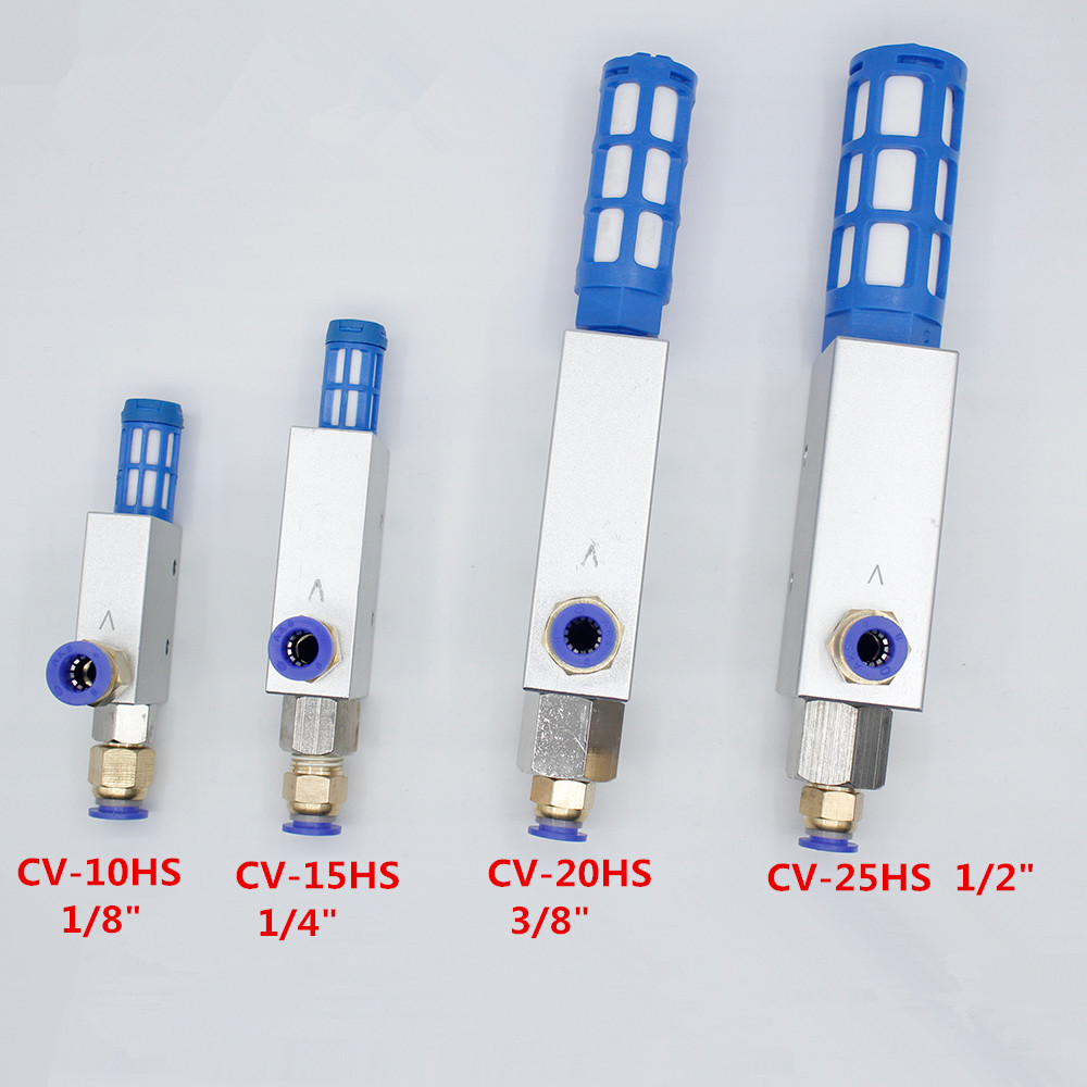 """1/8"""",1/4"""",3/8"""",1/2"""" .Pneumatic Air Exhaust Vacuum Ejector Generator CV 15HS/CV 20HS/CV 25HS +tube fitting 8*5-in Pneumatic Parts from Home Improvement"""