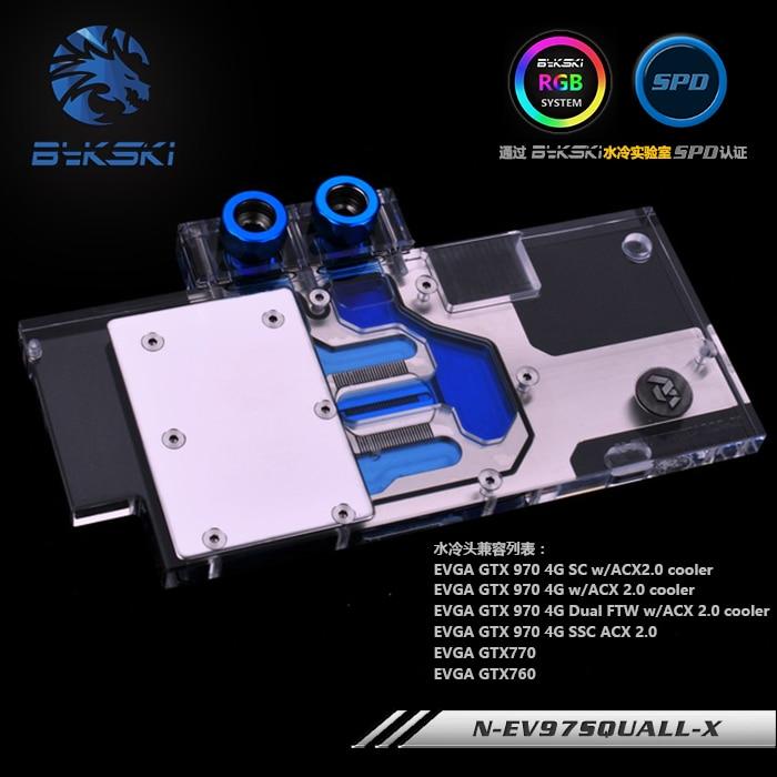 цены Bykski N-EV97SQUALL-X EVGA GTX970 GTX770 GTX760 GPU Water Cooling Block