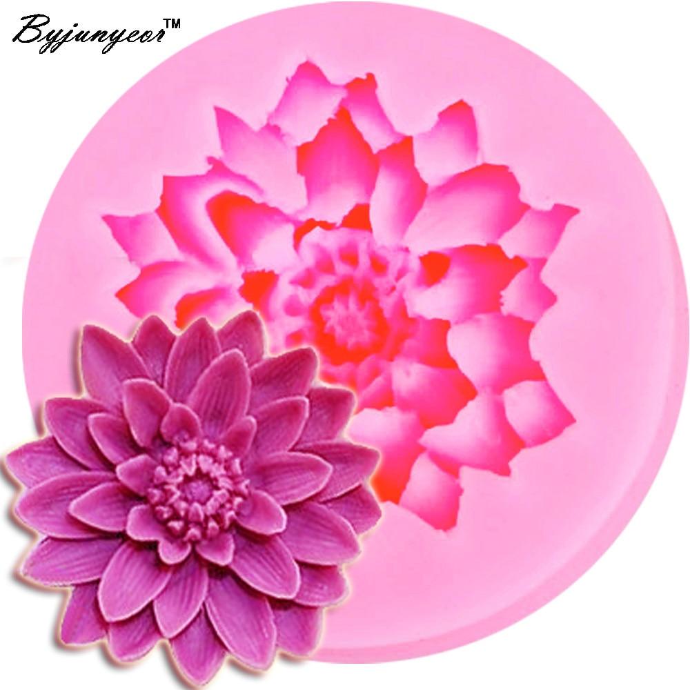 Lotus Flower 3d Fondant Cake Mold Candy Sugar Craft Cutter Baking