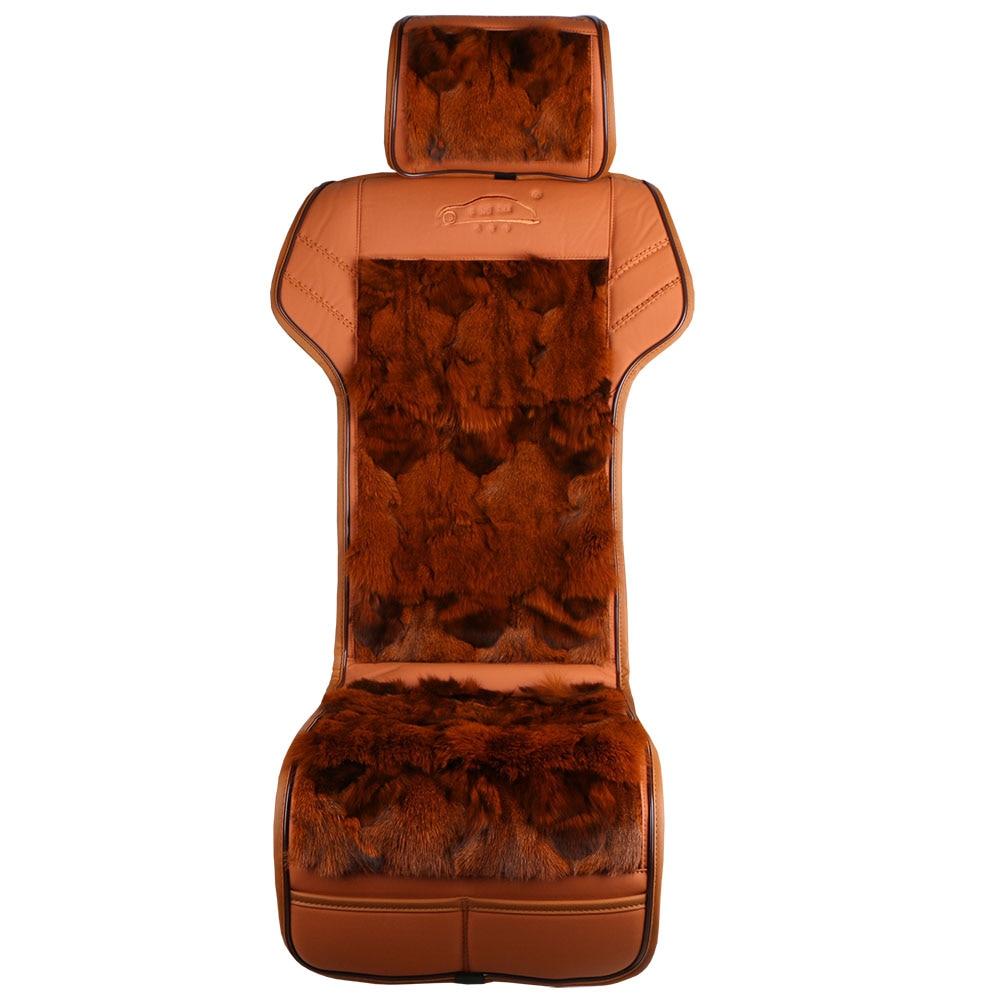 Briljant Hot Vest Stijl Echt Vossenbont Auto Seat Cover/nieuwe Natuurlijke Glamorous Winter Hoge Kwaliteit Vos Bont Zitkussen Taille Afslanken Modieuze En Aantrekkelijke Pakketten