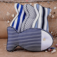 2pcs Creative pillow cotton cloth stripes Fish cute pillows Bedroom Office sofa car Cushion pillow home products Christmas gifts