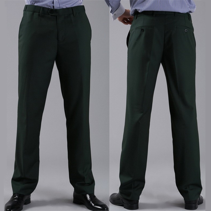 Мужские костюмные брюки модные свадебные формальные 12 цветов повседневные брюки известный бренд блейзер брюки Деловое платье брюки CBJ-H0284 - Цвет: slim dark green