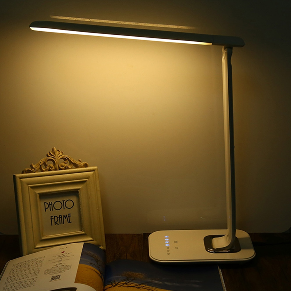 Table lamps gt battery led wireless lamp wireless usb by kartell - High Quality Eyes Care Led Desk Lamp 12w Foldable Dimmable Rotatable Touch Sensitive Controller Usb