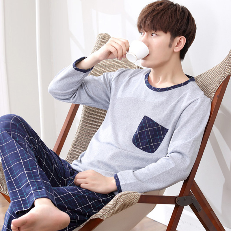 Yidanna Long Sleeve Pijama Cotton Pajamas Sets For Male Plus Size Sleep Clothing Fresh Nightie Sleepwear Men Pyjamas Suit Autumn