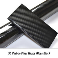 New 5D Car Sticker Film Carbon Fiber Decal Color Changing Wrap DIY Vehicle Car Styling Car Interior decorate Glue upgrade