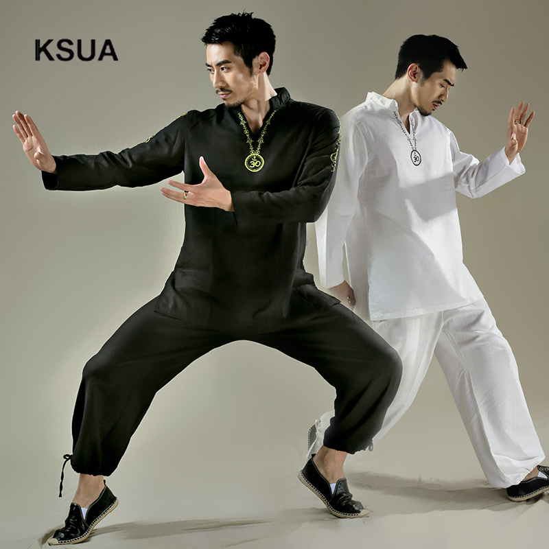 Yoga Shirt Pants Zen Meditation Kong Fu Clothing Man Sportswear Set Large Size Gym Yoga Suit Shirt Pants Tracksuit Yoga Set недорго, оригинальная цена