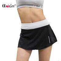 Women Tennis Skorts Brand Summer 2 In 1 Short Skirts Quick Drying Gym Fitness Yoga Running Table Tennis Sport Skorts QS