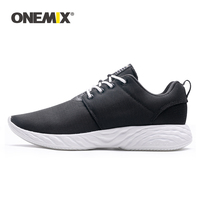 ONEMIX Men Casual Shoes 2019 Fashion Unisex Loafers Sneaker Lightweight Breathable Mesh Women Flats Solid Outdoor Walking Shoes