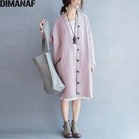 Осень Большой размер женское пальто хлопок полосатый розовый кардиган однотонный винтаж плюс размер женский новый пуговицы Повседневная В...