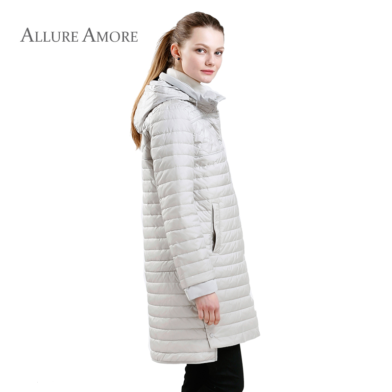 1407fa45390c6 New Spring Parkas Cotton Women Padded Jacket Women s Jackets Coat Thin Long  Hooded Warm Fashion Coats 2018 Allure Amore-in Parkas from Women s Clothing  on ...