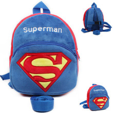 Superman Harnesses & Leashes For Kids Multifunction Baby Toddler  Walking Walker Safety Harness Bags Plush Backpack Anti-Lost