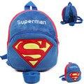 Superman Arreios & Trelas Para Crianças Multifuncionais Sacos de Bebê Da Criança Que Anda Cinto de Segurança Walker Pelúcia Mochila Anti-Lost