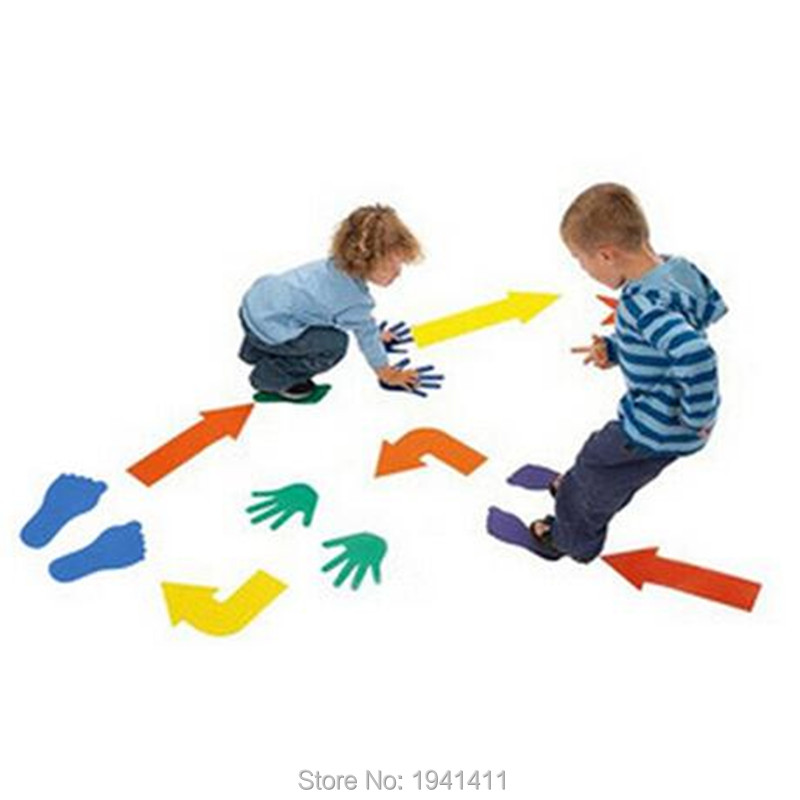 36Pcs/sets outdoor toys EVA Hands Feet And Arrows Game,Exercise the Flexibility Of The Hands And Feet