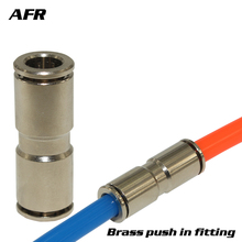 Brass push in fitting TKC Series TKC-PU8 PU10  Pneumatic tool for air pipe two-way quick coupling