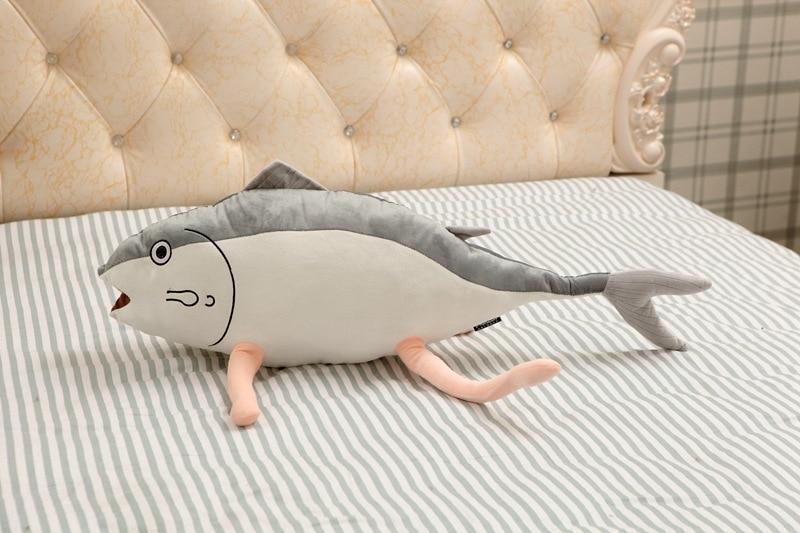 [SEIYUU] Rie Kugimiya 2016-funny-pillow-Fish-with-feet-anime-game-Kuso-Emoji-cute-plush-Pillows-Genius-Cushion-Stuffed