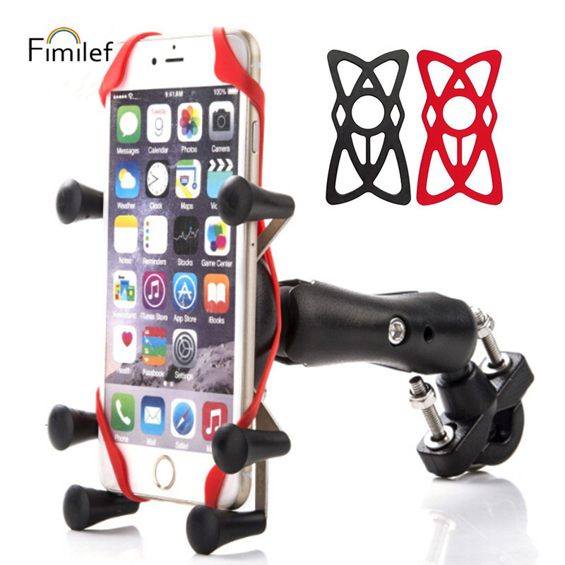 Fimilef Bike Bicycle Phone Holder Clip Mobile Holder For Motorcycle Cellphone Holder Bracket Universal Phone Stand Support