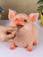 Resin Pig Money Box Saving Box Kids Coin Bank Piggy Eats Coin Hamm Piggy Bank Cartoon