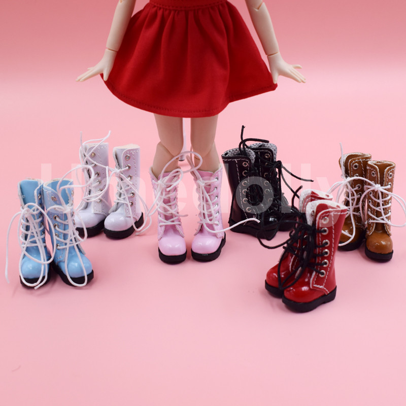 10 Pairs High Boots Shoes Doll Shoes Accessories Gift GX