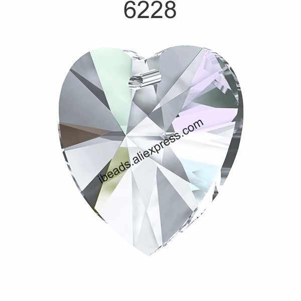 (1 piece) 100% Original crystal from Swarovski 6228 XILION Heart pendant made in Austria rhinestone beads for DIY jewelry making