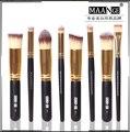 Professional 8 pcs Makeup Brushes Set 3D Foundation Brush Blusher Powder Nose Shape Eyeshadow Blending Brush Cosmetic Kit Tools