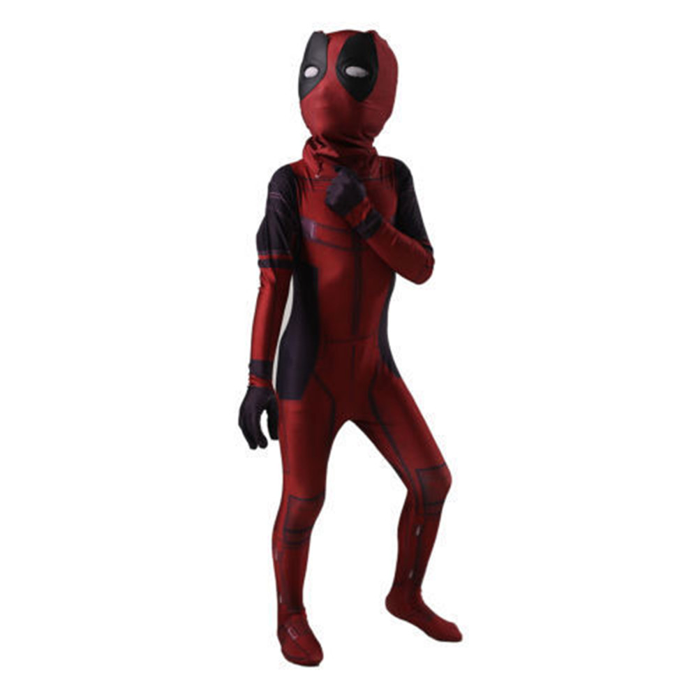 Avengers: Infinity War kid Deadpool Costume with Mask Spandex Deadpool Cosplay Costume hero  infantil cosplay
