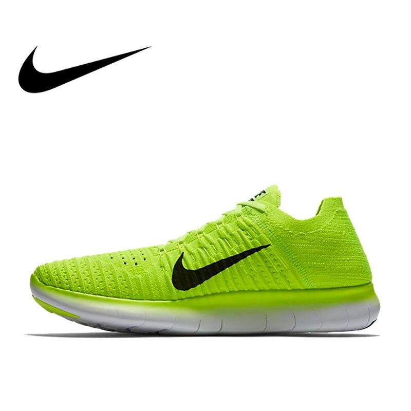 Original authentique NIKE gratuit RN Flyknit chaussures de course pour hommes en plein air randonnée jogging baskets confortable respirant 842545-700