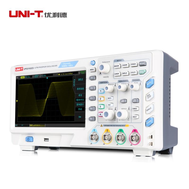 UNI-T UPO2102CS Ultra Phosphor Oscilloscope 1GS/s 2 Channels USB LAN Interface 65000 Frames Waveform Record